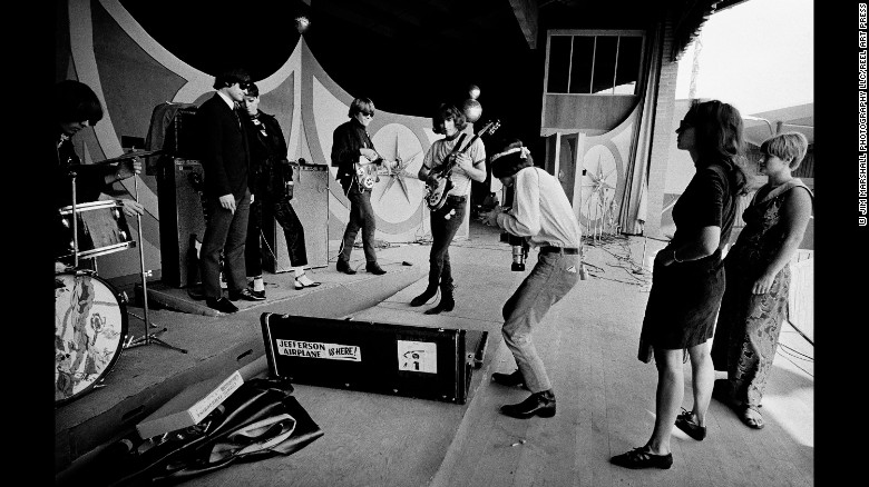 The rock group Jefferson Airplane at Monterey in 1966.