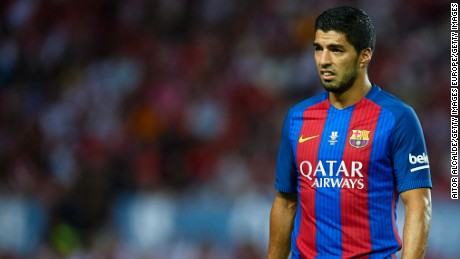 "Luis Suarez said ""football is for men"" after Barcelona's clash with Atletico Madrid."