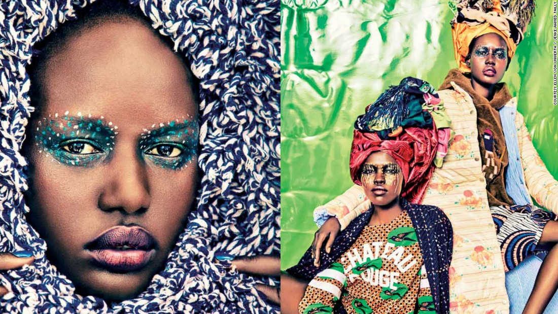 """A girl from Sudan like Ajak [model Ajak Deng] could be like absolutely striking with really amazing features"" says Tailly. ""I mean the beauty in Africa is so diverse it kind of shows also the beauty of the world."""