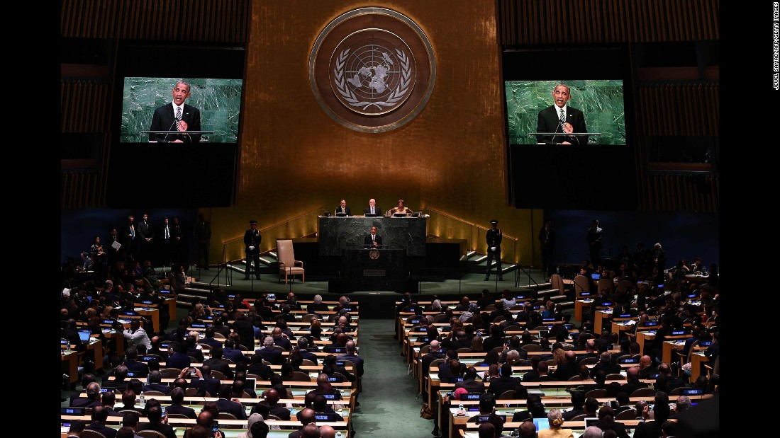 "President Barack Obama <a href=""http://www.cnn.com/2016/09/20/politics/barack-obama-un-diplomacy/"" target=""_blank"">addresses the UN General Assembly for the final time</a> on Tuesday, September 20."