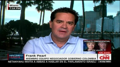 cnnee panorama entrevista frank pearl acuerdo paz farc guerrilleros opciones_00010527
