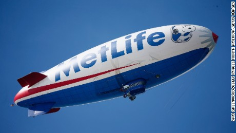Onboard the MetLife Blimp