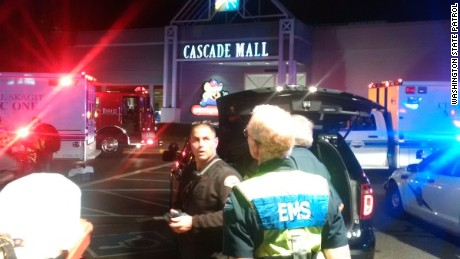 Four people were killed in a shooting Friday night at a mall in Burlington, Washington.
