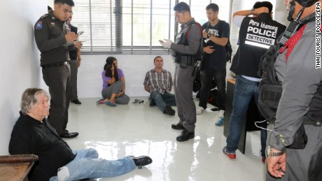 Thai police interrogate three people arrested Saturday in an anti-passport forgery operation in Bangkok.