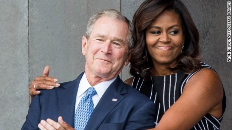 George W. Bush, Michelle Obama unlikely duo