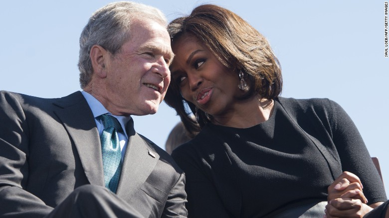 Right Wing Non-Savages - Page 2 160924190017-george-w-bush-michelle-obama-selma-talking-exlarge-169