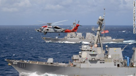 New show of force from U.S. and South Korean navies