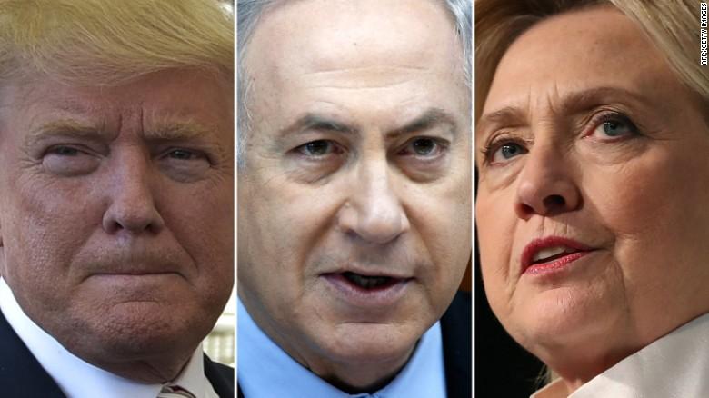 Netanyahuto to met with Trump, Clinton on Sunday