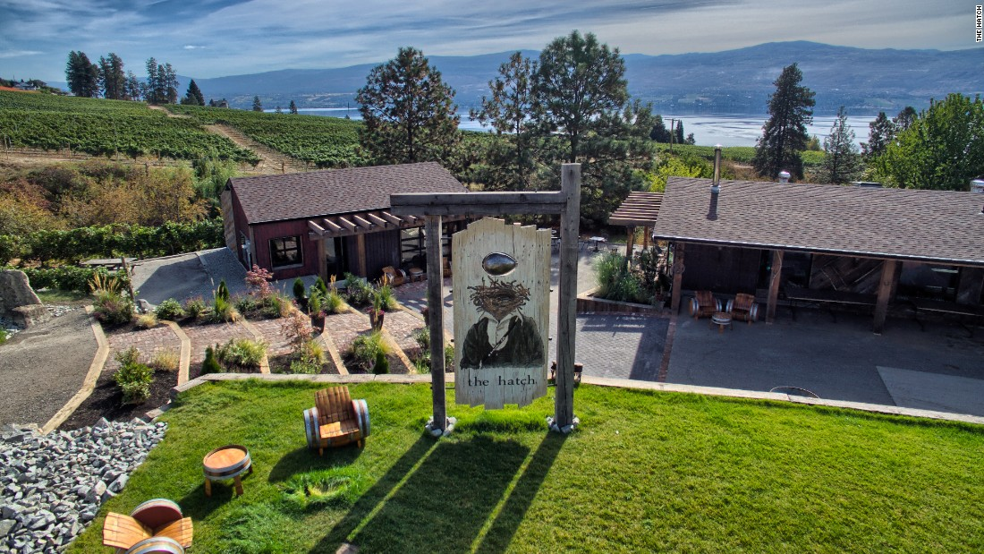 The Hatch in West Kelowna, British Columbia, is one of more than 160 wineries in the Okanagan Valley.
