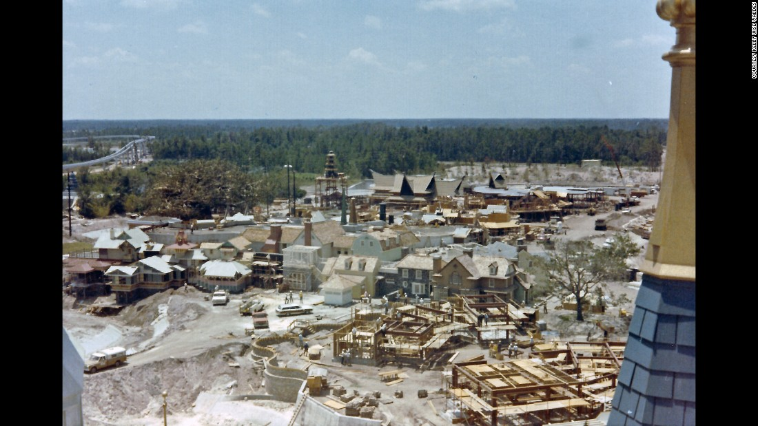"<strong>Liberty Square —</strong> Wise's picture of Liberty Square was taken from atop of Cinderella Castle looking over Liberty Square toward Adventureland. ""Liberty Square opened as part of the Magic Kingdom grand opening in 1971 as one of the original six themed lands,"" Valdes said. ""There are architectural representations of each of the original 13 colonies in Liberty Square."""