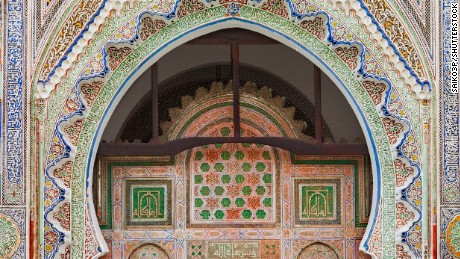 Mosque-university of al-Karaouine or al-Qarawiyyin, 9th century, Fes, Morocco.