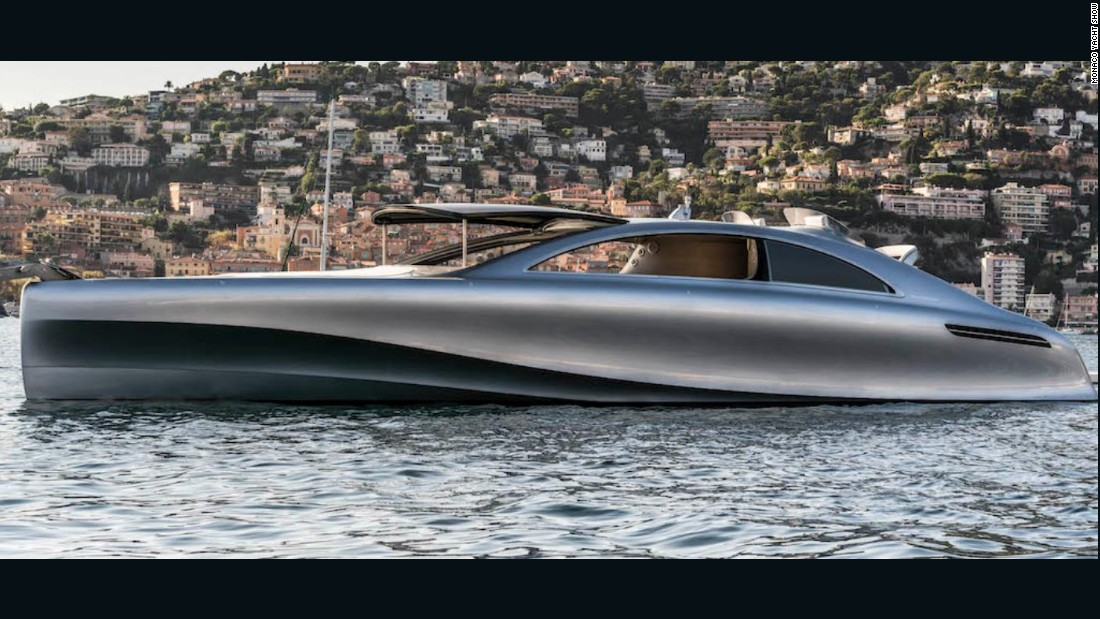 "And for those with a need for speed, look no further than the sleek Arrow460-Granturismo. Built in conjunction with Mercedes, the $5.5 million ""toy"" can reach an impressive top speed of 38 knots (44 mph), with enough space to accommodate nine guests so you can show it off to your friends."