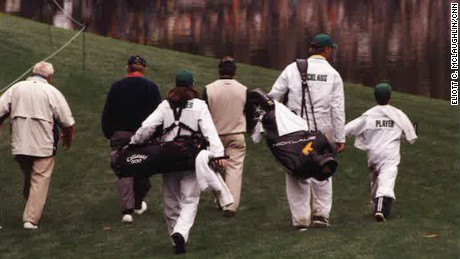 Arnold Palmer, far left, was paired with golf greats Jack Nicklaus and Gary Player that day.