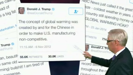 Clinton: Trump called climate change a Chinese hoax