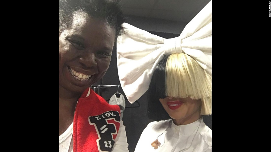 "Comedian Leslie Jones, left, <a href=""https://www.instagram.com/p/BKNCBMej7yd/"" target=""_blank"">snapped a backstage selfie</a> with singer Sia on Sunday, September 11."