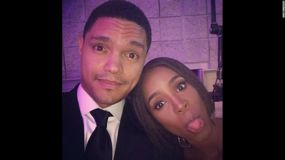 """Backstage with my co-host @KellyRowland,"" <a href=""https://www.instagram.com/p/BKef_nOAeyN/"" target=""_blank"">said ""Daily Show"" host Trevor Noah</a> on Saturday, September 17. The two were hosting the annual Phoenix Awards Dinner for the Congressional Black Caucus Foundation."