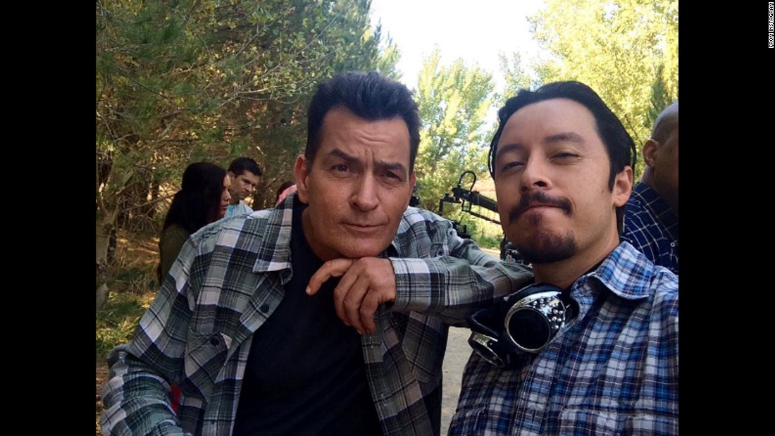 "Actors Charlie Sheen, left, and Efren Ramirez take a selfie on the set of the film ""Mad Families"" on Wednesday, September 21. ""Vote for Pedro,"" <a href=""https://www.instagram.com/p/BKooX3YAaL4/"" target=""_blank"">Sheen said,</a> referring to Ramirez's role in 2004's""Napoleon Dynamite."" <a href=""http://www.cnn.com/2016/08/31/entertainment/gallery/look-at-me-selfies-august/index.html"" target=""_blank"">15 must-see selfies from August</a>"