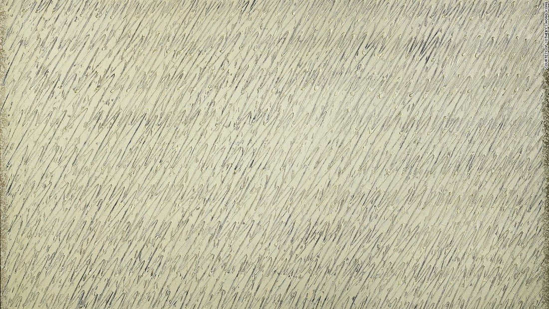 South Korean post-war artist Seobo is well known for his abstract art but is most famous for his Ecriture series, which he began in the 1970s. Sotheby's says the work presents freedom in both calligraphic brushstrokes and in one's mind.