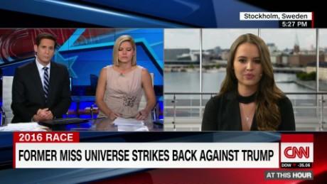 Camilla Hansson Miss Universe Contestant on Donald Trump origwx cs_00004722