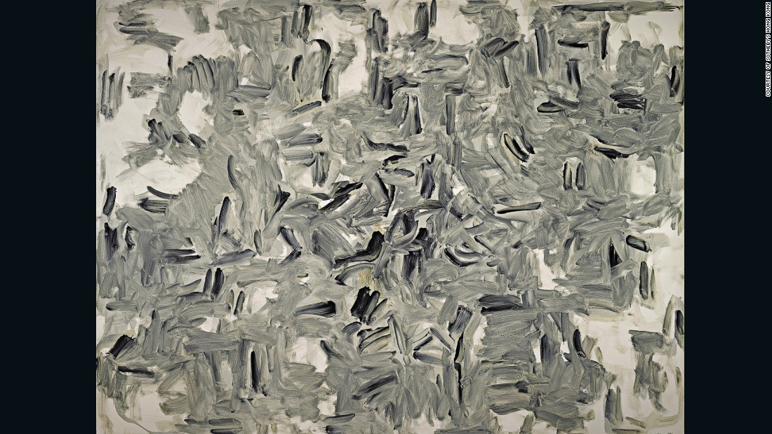 "Lee once said ""when I passively accept external winds, an even greater world is opened."" This oil painting is the largest work from the South Korean artist's Winds series, which he produced between 1982 and 1986."