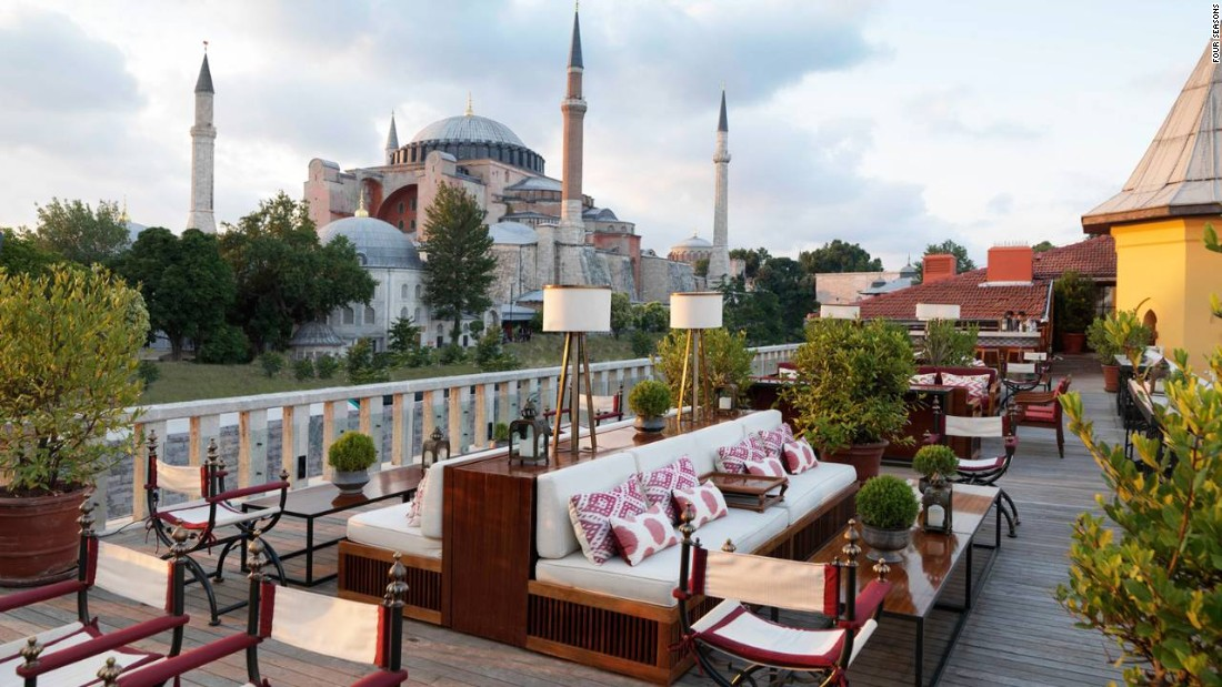 The Four Seasons Hotel in Istanbul's historic Sultanahmet neighborhood set up its home in what used to be the city's jail to take advantage of its prime location near the Hagia Sofia and Blue Mosque.