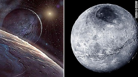 The New Horizon mission returned some great pictures of Pluto and close to Hardy's painting of it