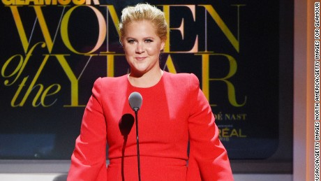 NEW YORK, NY - NOVEMBER 09:  Comedian Amy Schumer speaks onstage at the 2015 Glamour Women of the Year Awards on November 9, 2015 in New York City.  (Photo by Larry Busacca/Getty Images for Glamour)