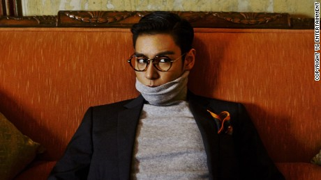 Ahead of the auction, CNN Style interviewed T.O.P during an exhibition preview in Seoul, South Korea