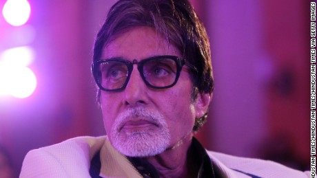 Bollywood actor Amitabh Bachchan in Mumbai, India, last year.