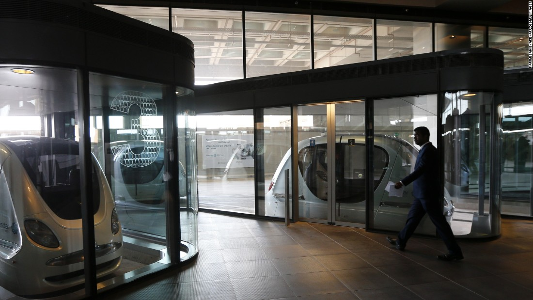 "Initial plans banned automobiles from the city. Driverless pods, known as ""personal rapid transit"" (PRT) carts, are used by residents. The city is also designed in a way to encourage walking and cycling. Although revised plans have allowed for electric and clean energy cars to be permitted within the city."
