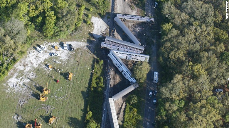 Train collision in Florida injures 2; mangles train cars