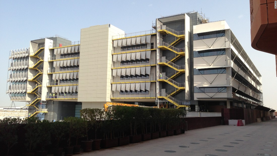The main buildings are highly insulated and energy efficient, including the SIEMENS building (pictured), the Middle-East headquarters of the technology giant.
