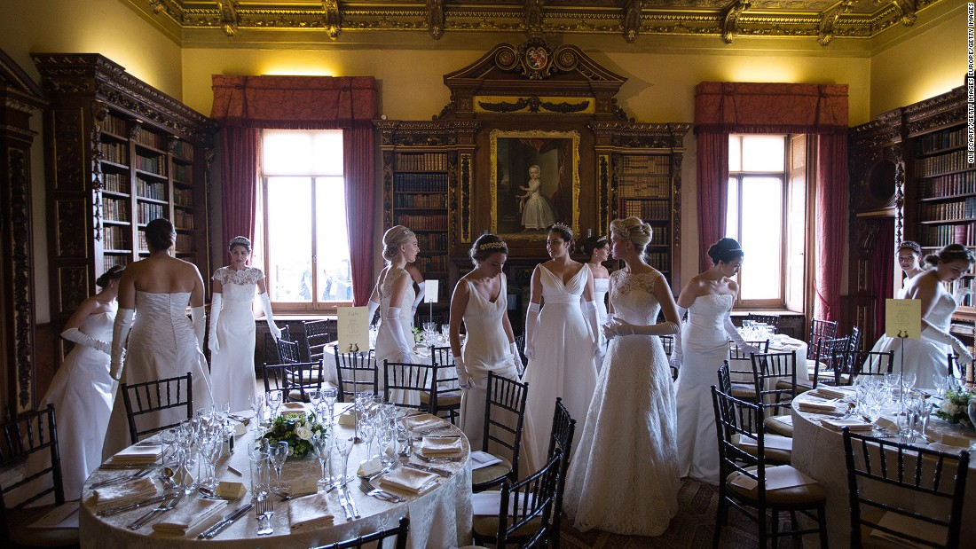 Queen Charlotte's Ball -- a 200-year-old annual high society event for young women (usually between 17-20) to present themselves -- was held at Highclere Castle in 2014.