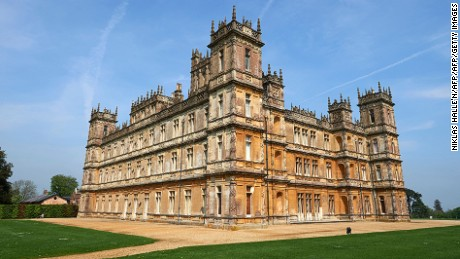 Highclere Castle, is pictured in Highclere, southern England, on May 12, 2016.