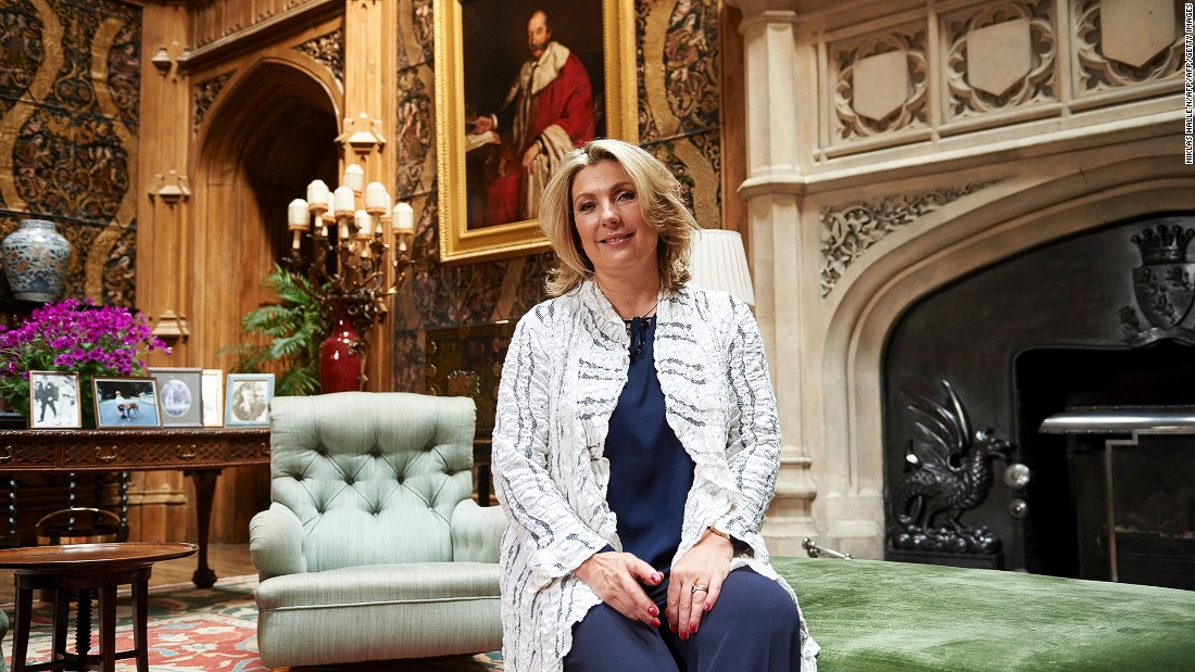 "The present Lady Carnarvon, a historian, will launch a new book ""At Home at Highclere Castle: Stories and Menus from the real Downton Abbey"" next spring. The book will talk about entertaining and food at Highclere."