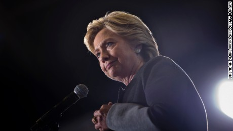 Democratic presidential nominee Hillary Clinton pauses while speaking during an event at University of New Hampshire September 28, 2016 in Durham, New Hampshire.