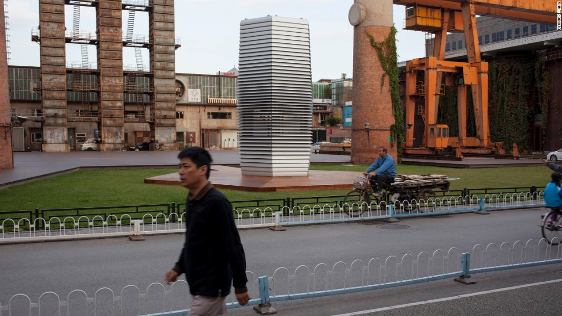 """""""The Smog Free Tower is about the dream of clean air for everyone,"""" says Roosegarde. """"The goal for now is to be able to make permanent versions of the towers and integrate them into the urban landscape. Eventually though, I'd like them to become relics of our time."""""""