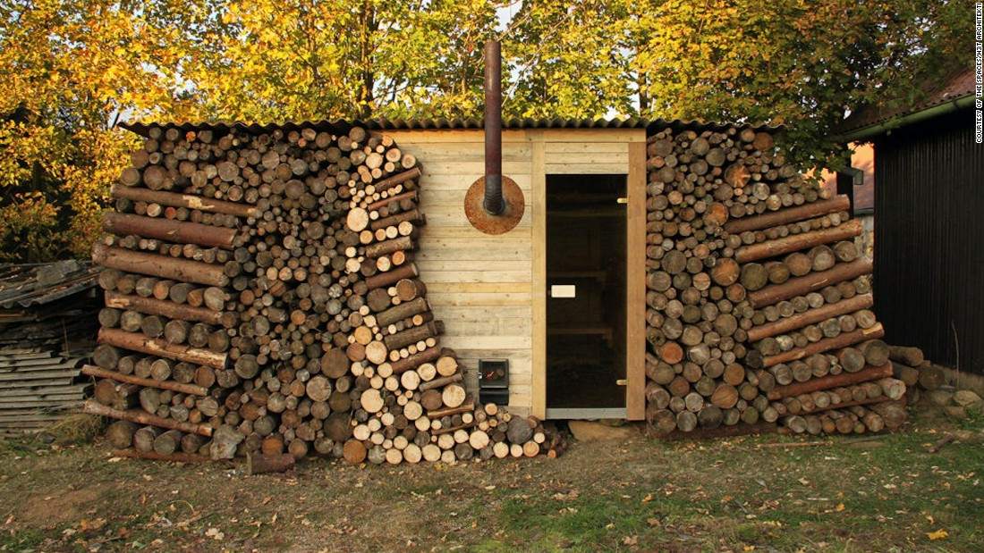 H3T Architekti has built a collection of 19 saunas so far, including Sauna Poleno, a bike sauna and a flying sauna. Anyone with their own firewood can enjoy this community sauna located in the Czech spa town of Podebrady.