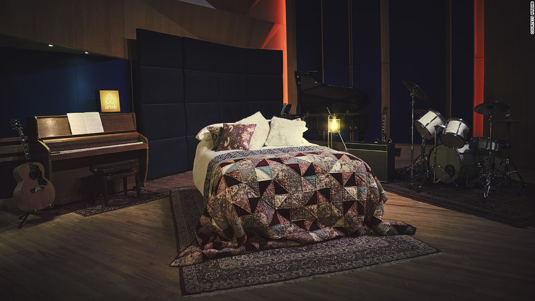 "Guests will be staying in Studio 3, where Pink Floyd's ""Dark Side of the Moon"" was born and Amy Winehouse made her last recording, a duet with Tony Bennett."