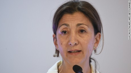 "French-Colombian politician and former hostage Ingrid Betancourt speaks during the forum ""The Reconciliation, more than Magic Realism"" in Bogota on May 5, 2016.  / AFP / LUIS ACOSTA        (Photo credit should read LUIS ACOSTA/AFP/Getty Images)"