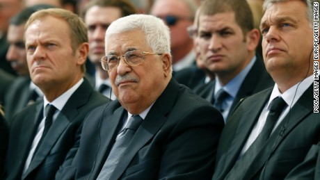 Palestinian President Mahmoud Abbas was at the ceremony.