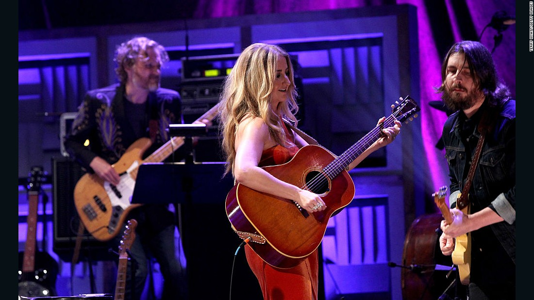 "Seeing a show at the Ryman Auditorium is the cornerstone of a great trip to Nashville, Wilson says. Here, singer-songwriter Margo Price plays at the ""Mother Church of Country Music."""