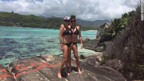 The Korkki sisters arrived in the Seychelles on September 15.