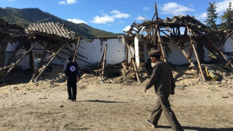 A Red Cross relief worker from the Democratic People's Republic of Korea during an assessment mission in Hoeryong City.