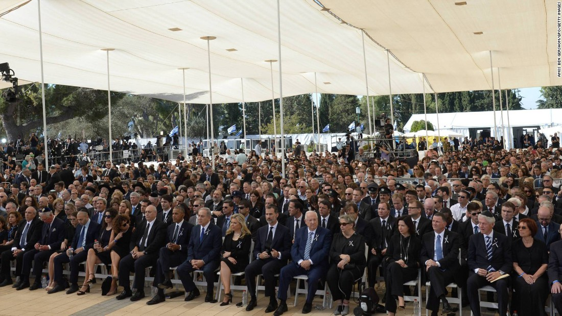 The funeral included world leaders and dignitaries from 70 countries.