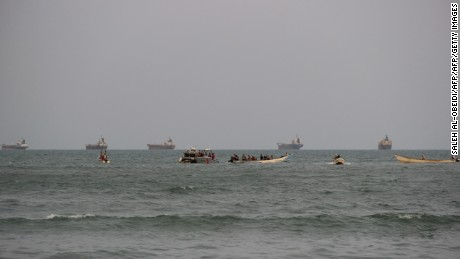 The Emirati vessel was hit in the busy waters of Yemen off the southern coastal city of Aden
