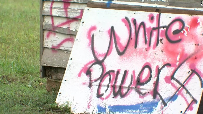 Historic school vandalized with racist messages