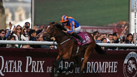 Moore pulled clear on Found to lead a 1-2-3 for horses trained by Aidan O'Brien.