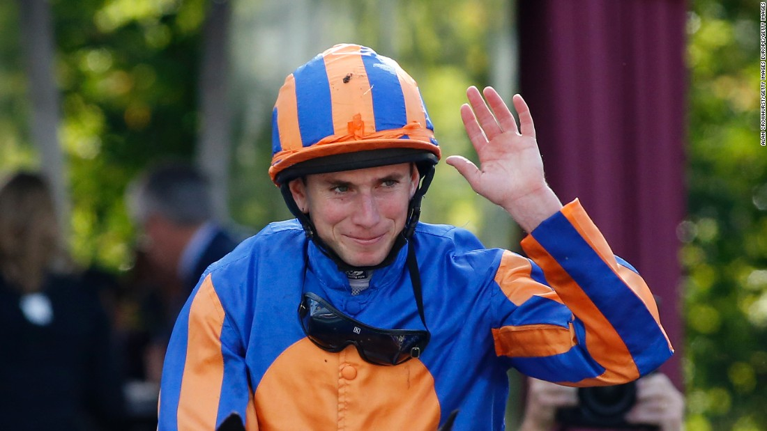 English jockey Ryan Moore was celebrating his second victory in the Arc, having ridden Workforce to success in the 2010 edition.