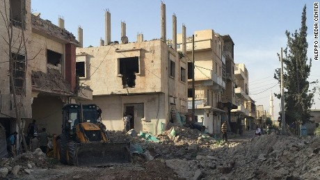 Aftermath of attack on Aleppo's M10 hospital in October.